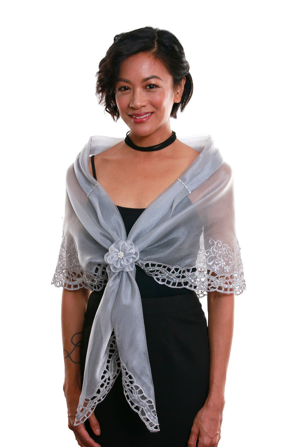 Cutwork Alampay Silver 002 - Filipiniana Blouse
