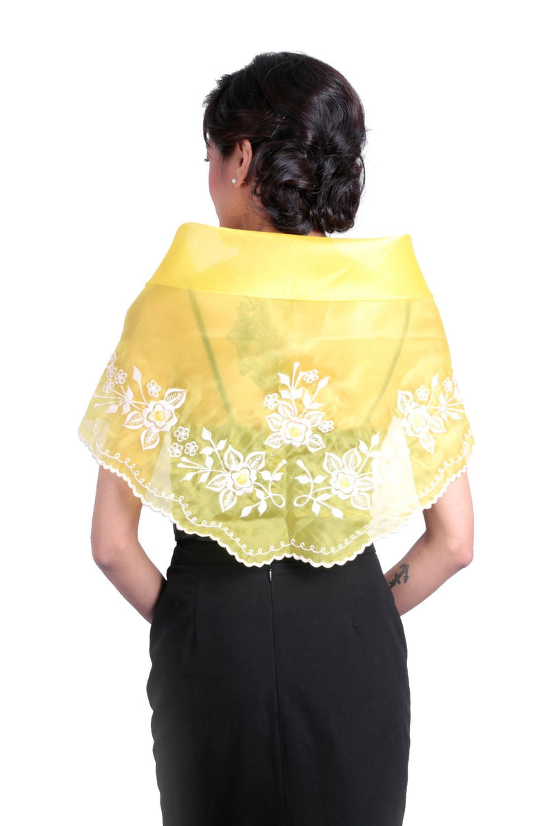Womens Alampay Yellow Gold 001 - Filipiniana Blouse
