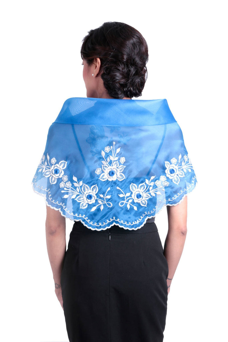 Womens Alampay Blue 001 - Filipiniana Blouse