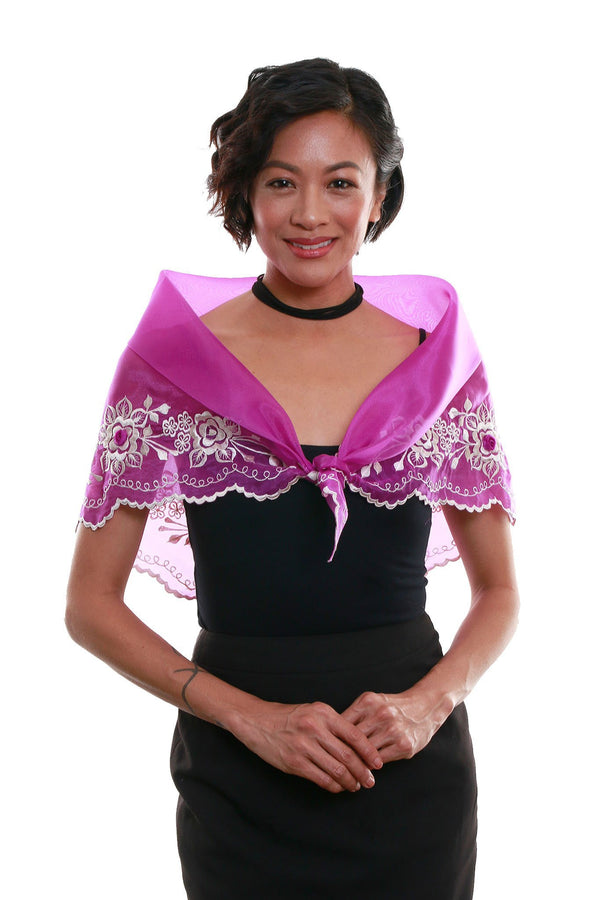 Womens Alampay Purple 001 - Filipiniana Blouse