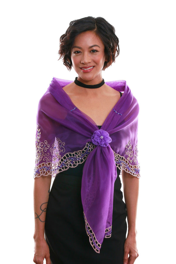 Cutwork Alampay Purple 002 - Filipiniana Blouse