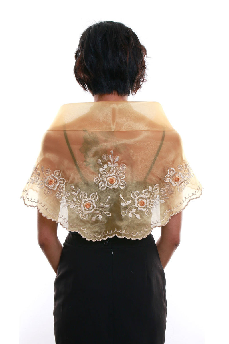 Womens Alampay Gold 001 - Filipiniana Blouse