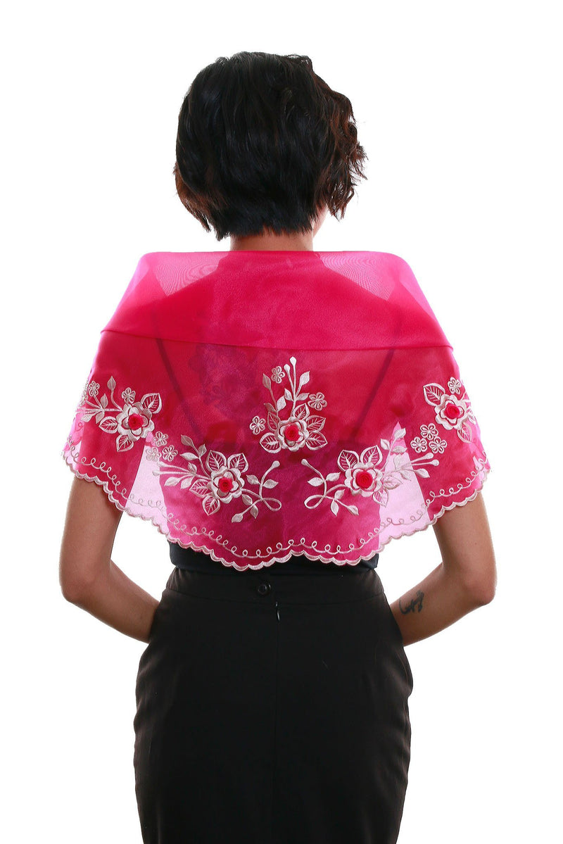 Womens Alampay Fuchsia 001 - Filipiniana Blouse