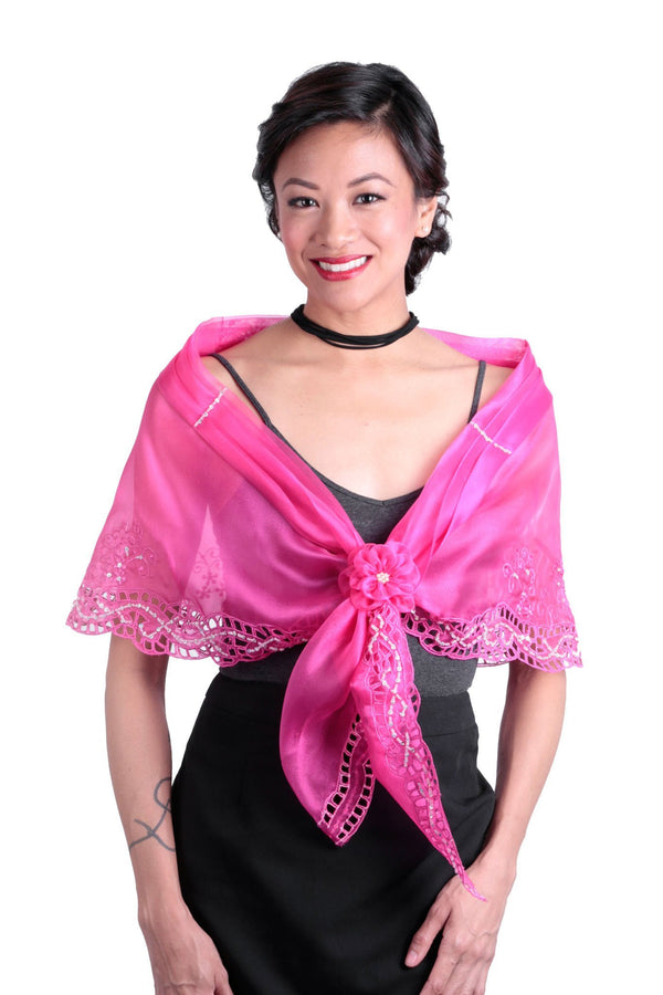 Cutwork Alampay Fuchsia 002 - Filipiniana Blouse