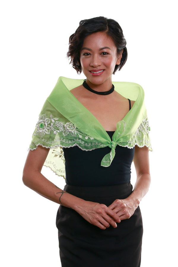 Womens Alampay Bright Green 001 - Filipiniana Blouse
