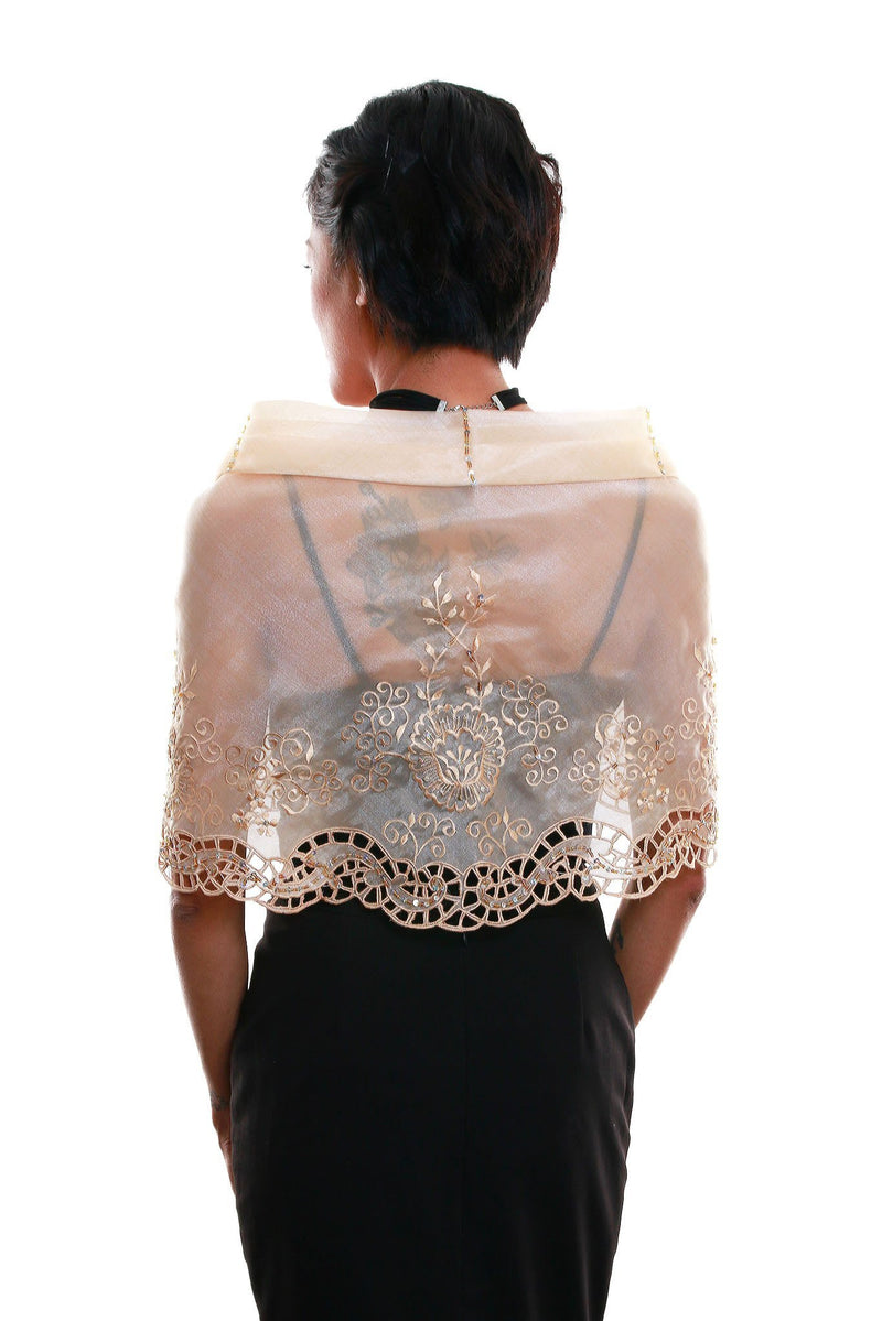 Cutwork Alampay Beige 002 - Filipiniana Blouse