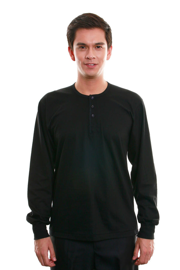 Camisa De Chino - Long-Sleeve Black Shirts