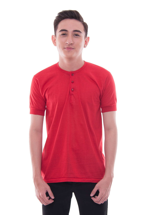 Camisa De Chino - Short-Sleeve Red Shirts
