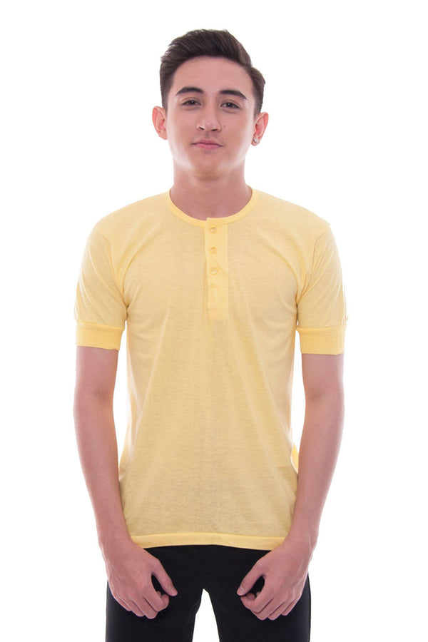 Camisa De Chino - Short-Sleeve Yellow Shirts
