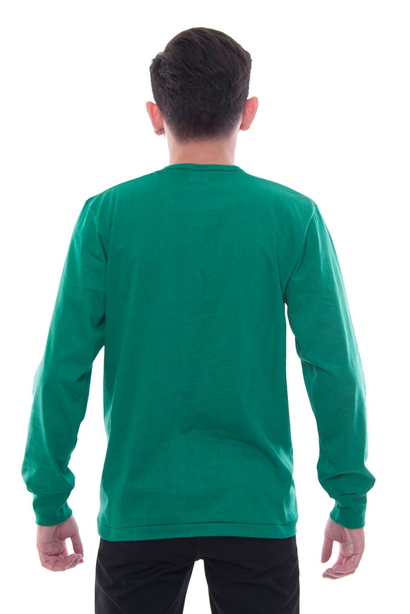 Camisa De Chino - Long-Sleeve Green Shirts