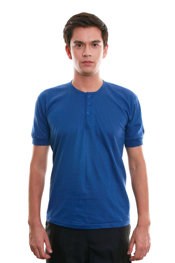 Camisa De Chino - Short-Sleeve Blue Shirts