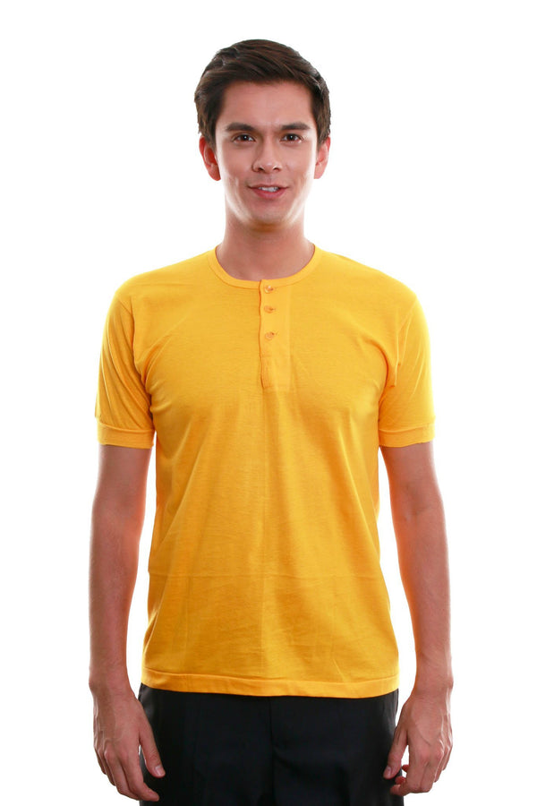 Camisa De Chino - Short-Sleeve Yellow Gold Shirts