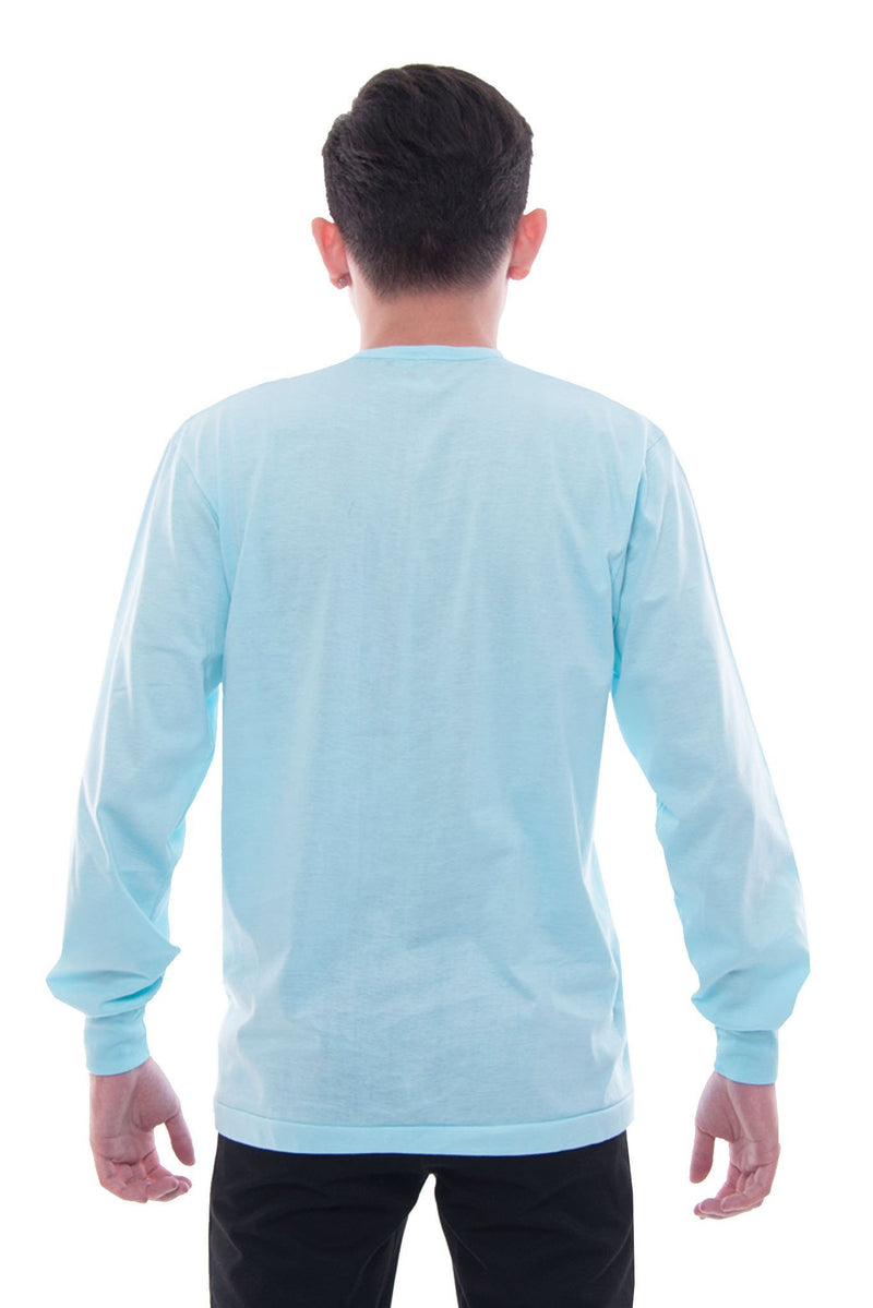 Camisa De Chino - Long-Sleeve Aqua Blue Shirts