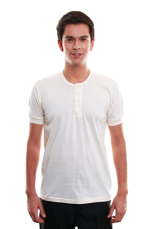 Camisa De Chino - Short-Sleeve Beige Shirts