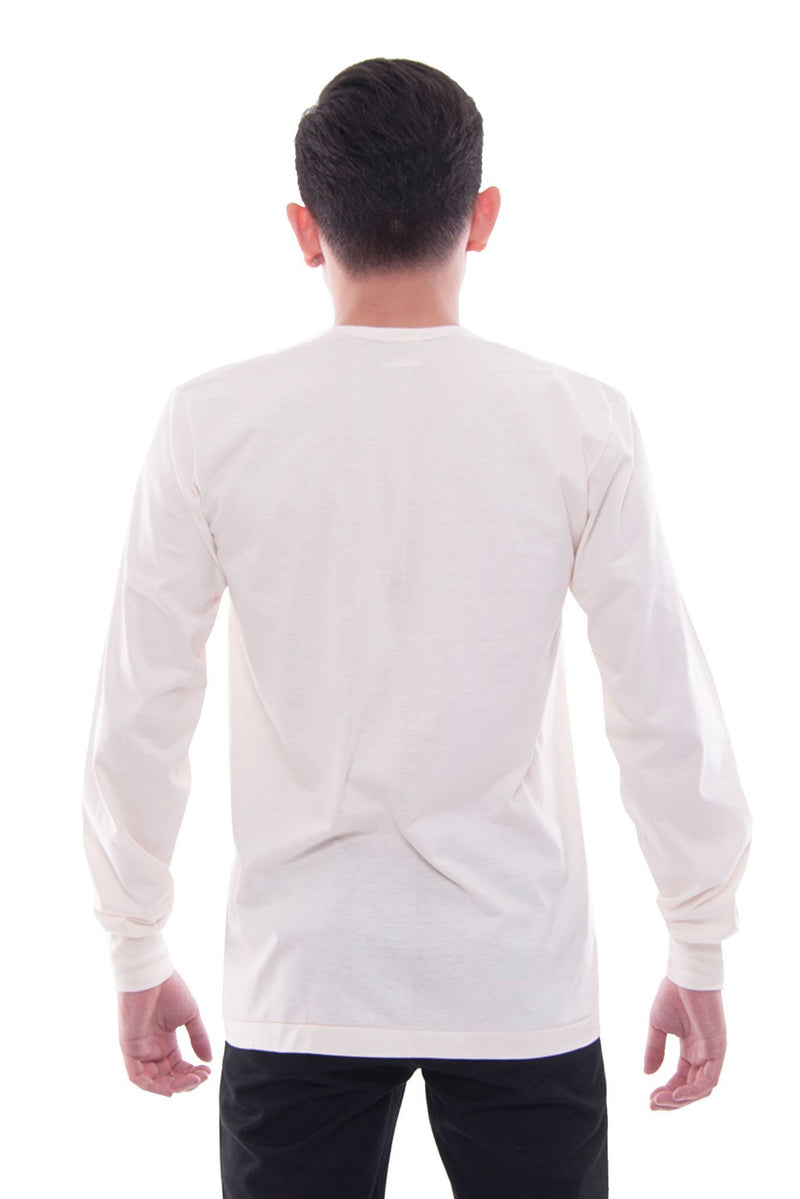 Camisa De Chino - Long-Sleeve Beige Shirts