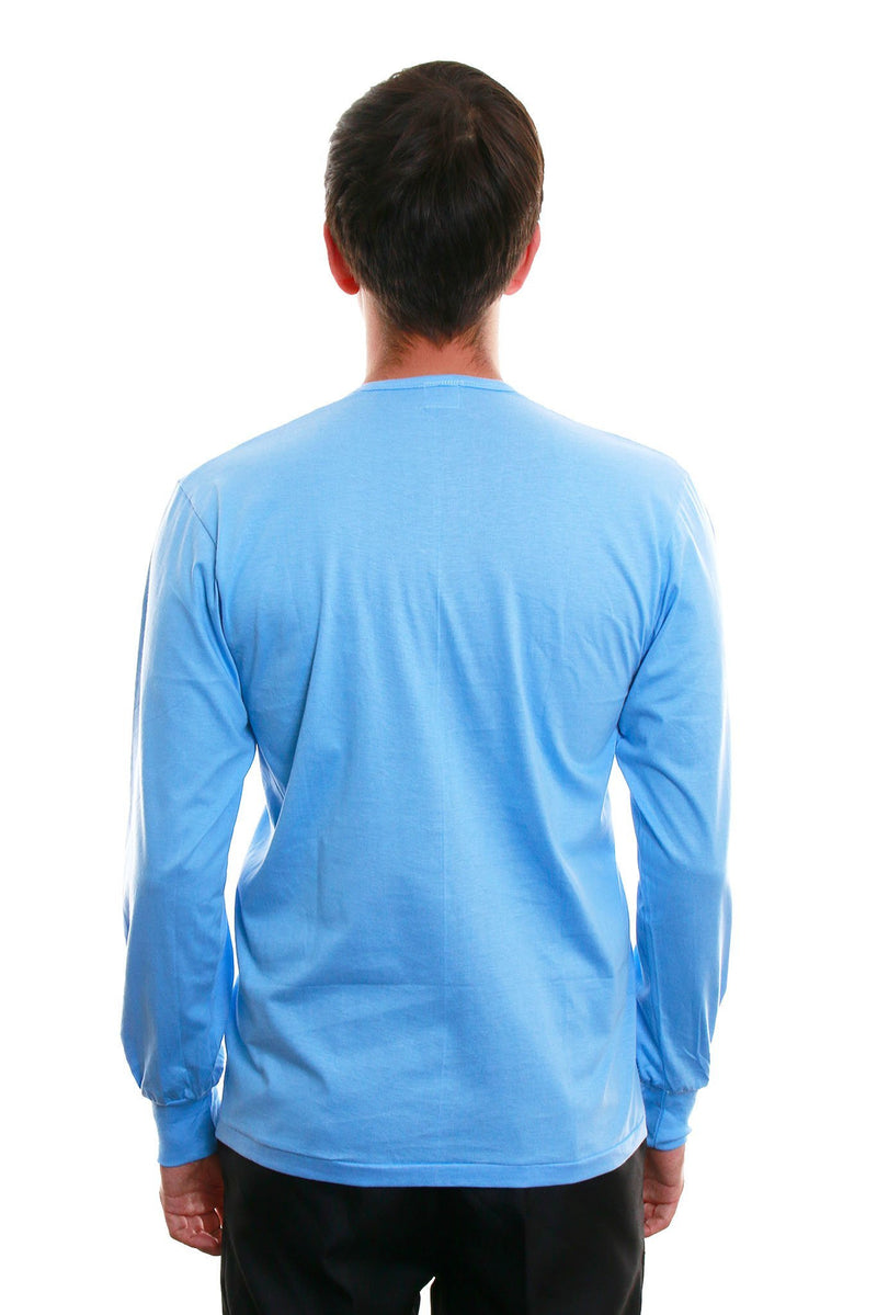 Camisa De Chino - Long-Sleeve Light Blue Shirts