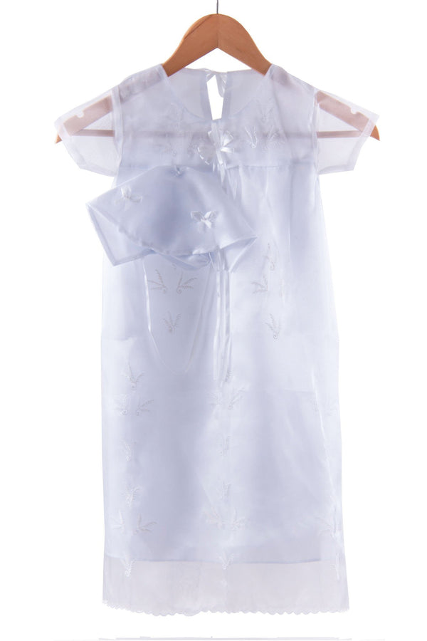 Pre-Order - Girls Baptism Dress White Christening