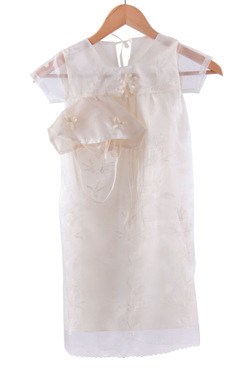 Pre-Order - Girls Baptism Dress Beige Christening