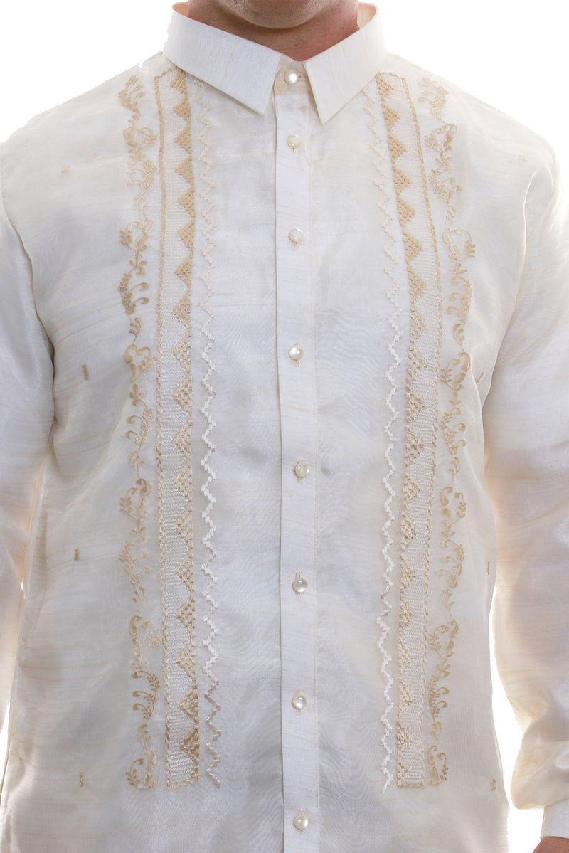 Big & Tall - Organza Pina Full-Open With Lining Barong Tagalog 003