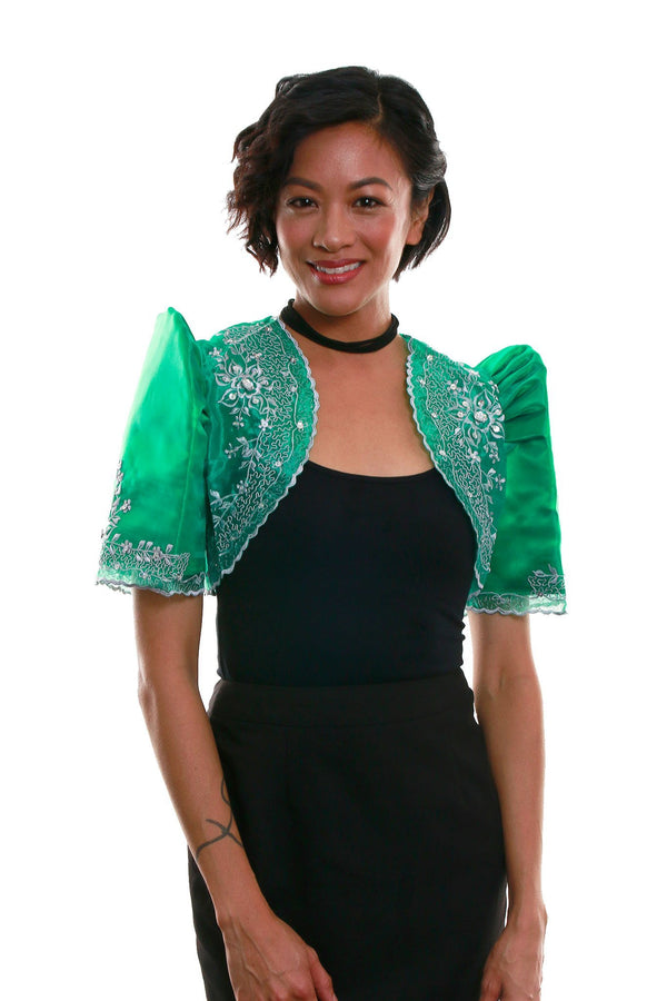 Mestiza Bolero Green 001 - Filipiniana