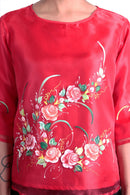 Pre-Order - Womens Kimona Painting Red 003 Filipiniana