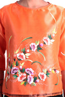 Pre-Order - Womens Kimona Painting Orange 003 Filipiniana