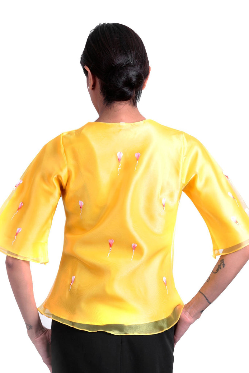 Pre-Order - Womens Kimona Painting Yellow 002 Filipiniana