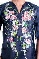 Pre-Order - Womens Kimona Painting Navy Blue 002 Filipiniana