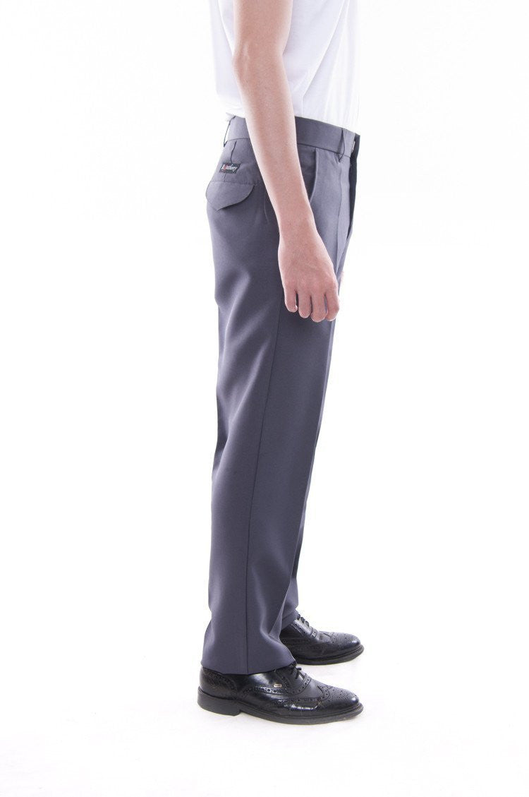Pre-Order - Mens Regular Fit Wool Slacks Gray Pants