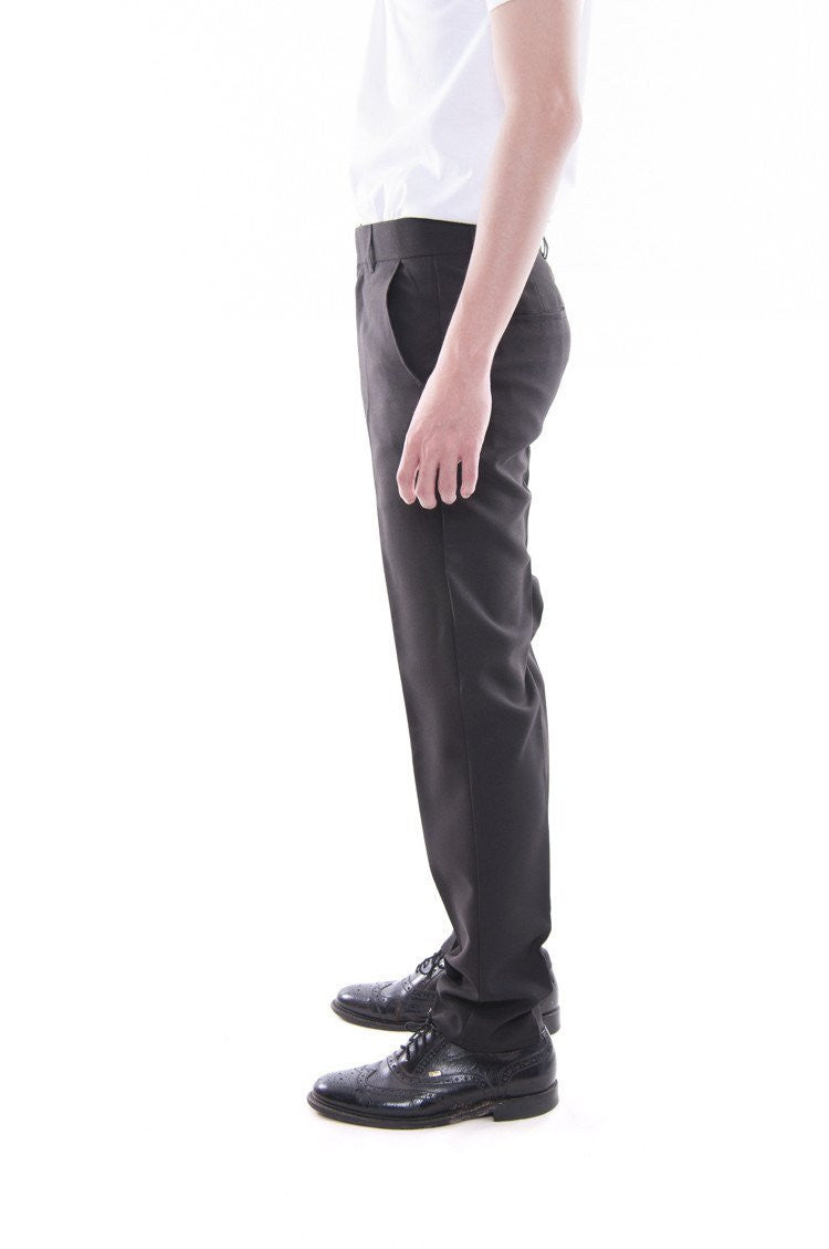 Mens Skinny Fit Formal Slacks Black Pants