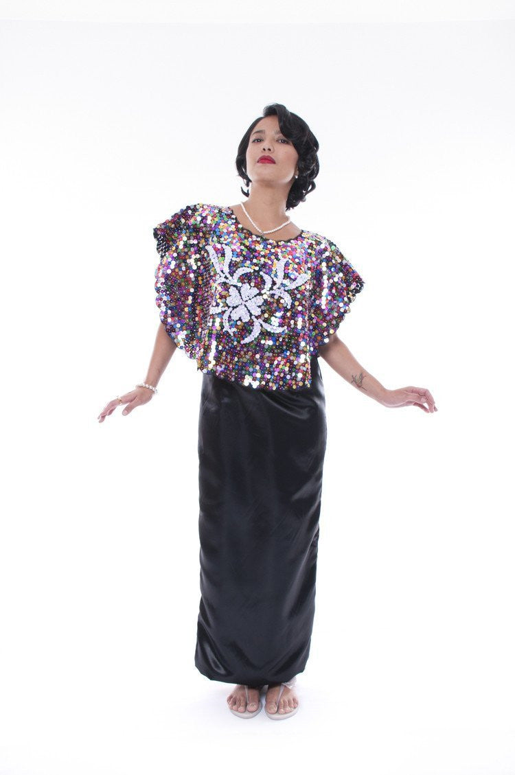 Pre-Order - Full-Sequined Alampay Filipiniana Blouse