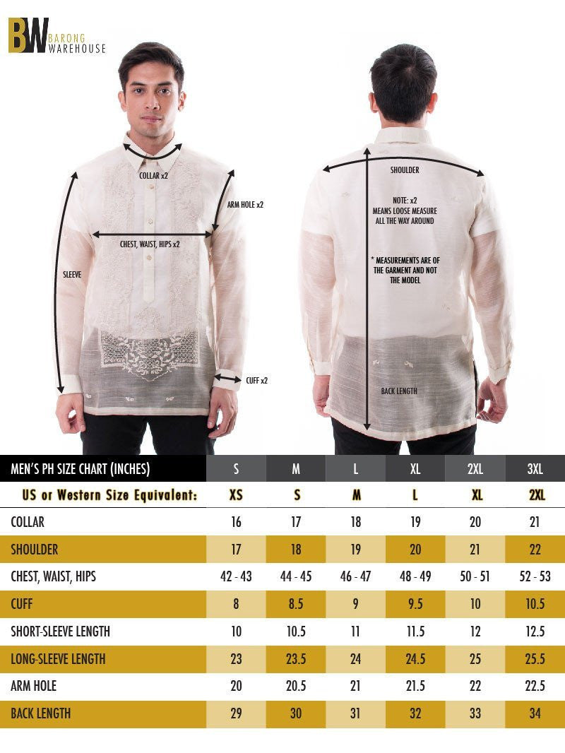 Pre-Order - Jusi Monochromatic Double-Collar Black Barong Tagalog 002