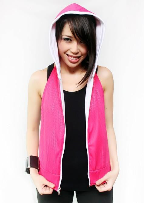 By:chelo Reversible Hoodie - Hot Pink And White