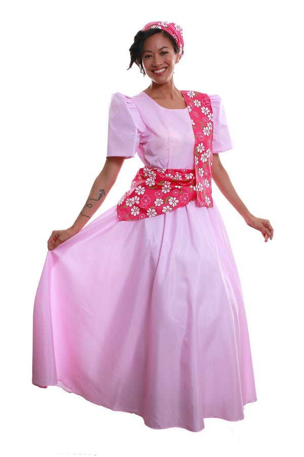 Pre-Order - Balintawak Gina Dress Pink Filipiniana Costume