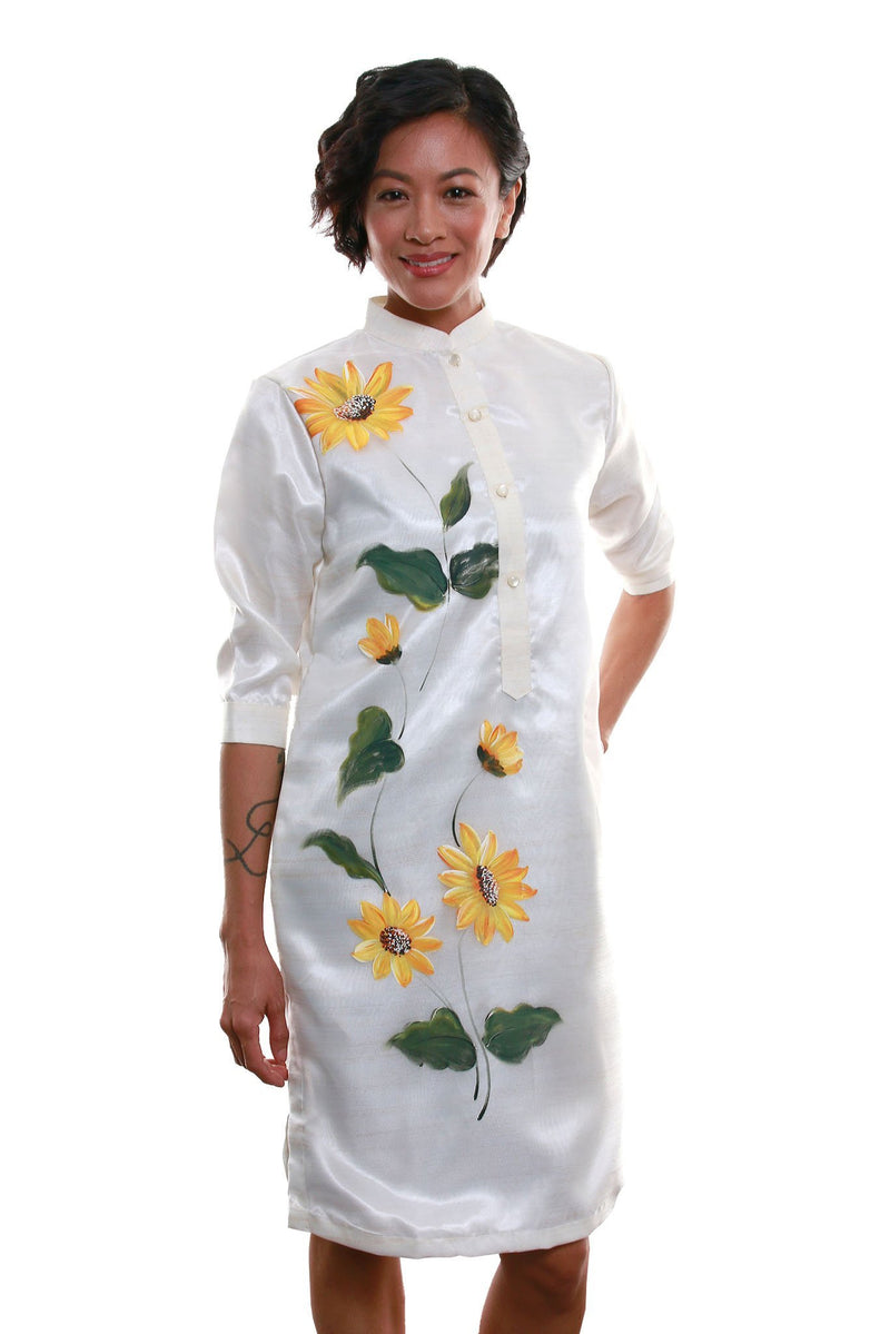 Organza Barong Dress 003 - Filipiniana Womens Set