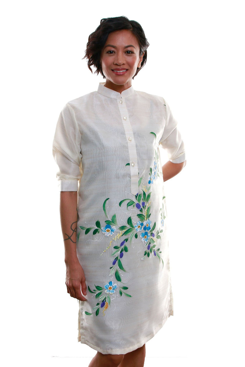 Organza Barong Dress 004 - Filipiniana Womens Set