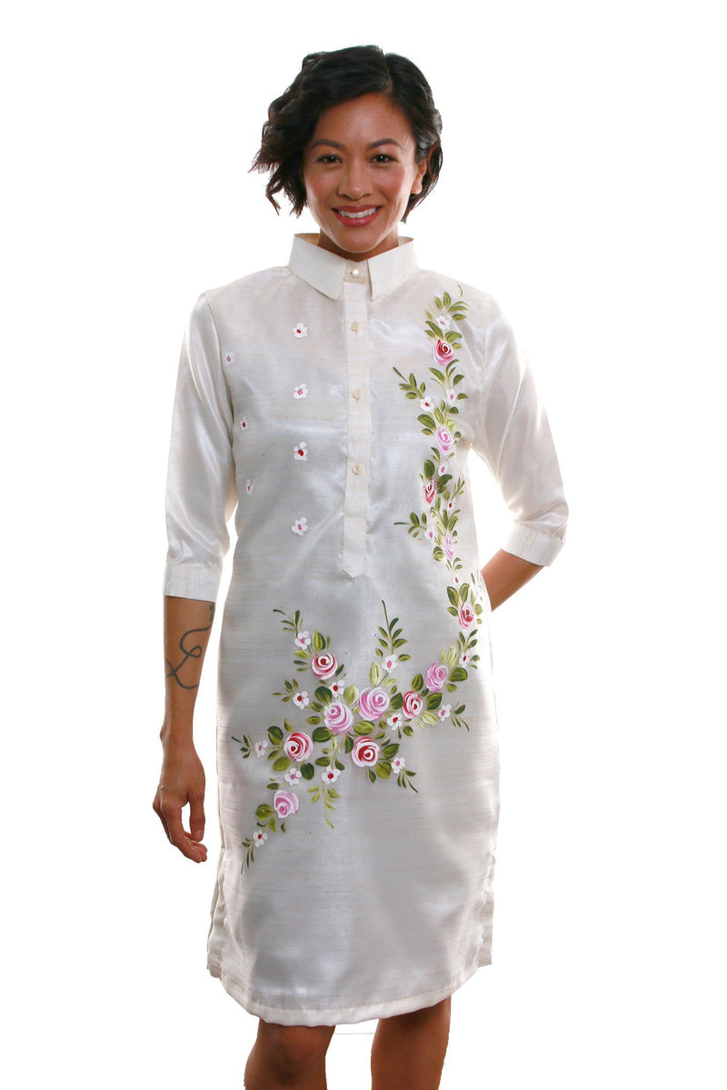 Organza Barong Dress 005 - Filipiniana Womens Set