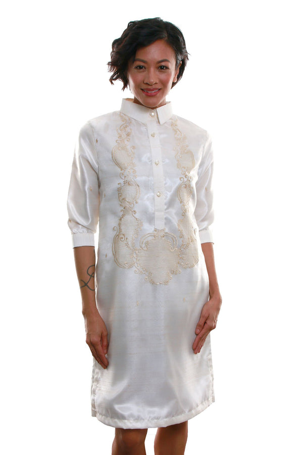 Organza Barong Dress 002 - Filipiniana Womens Set