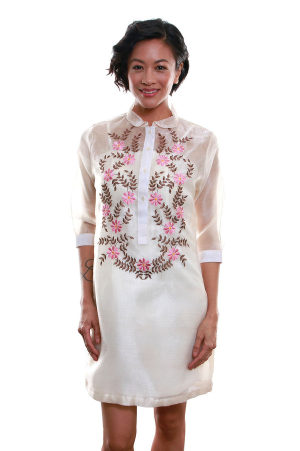 Organza Barong Dress 006 - Filipiniana Womens Set
