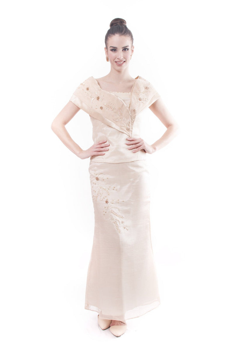 Pre-Order - Filipiniana Sided Gown 003 Dress