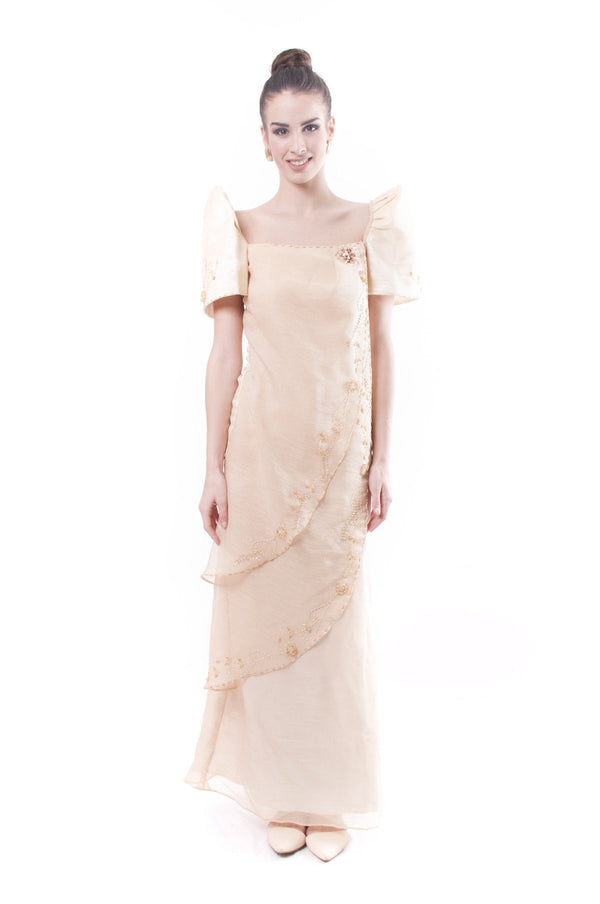 Pre-Order - Filipiniana Two-Layer Gown 002 Dress