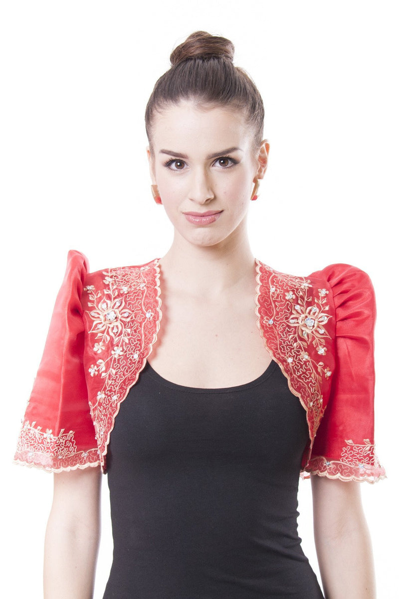 Mestiza Bolero Red 001 - Filipiniana