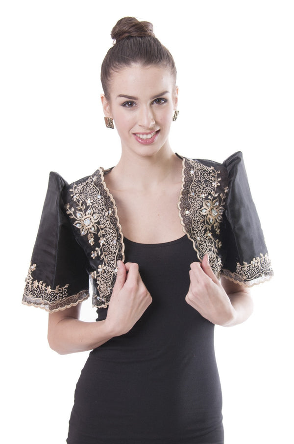 Mestiza Bolero Black 001 - Filipiniana