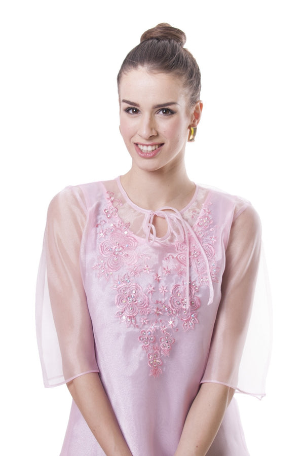 Womens Kimona Pink 002 - Filipiniana