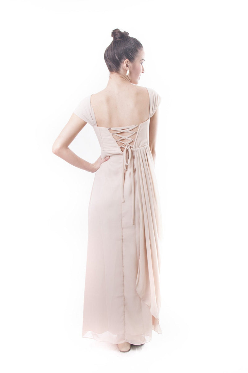 Pre-Order - Filipiniana Layered Chiffon Gown Dress