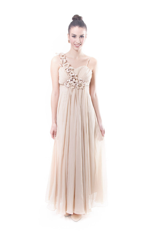 Pre-Order - Horse-Hair Chiffon Gown Dress