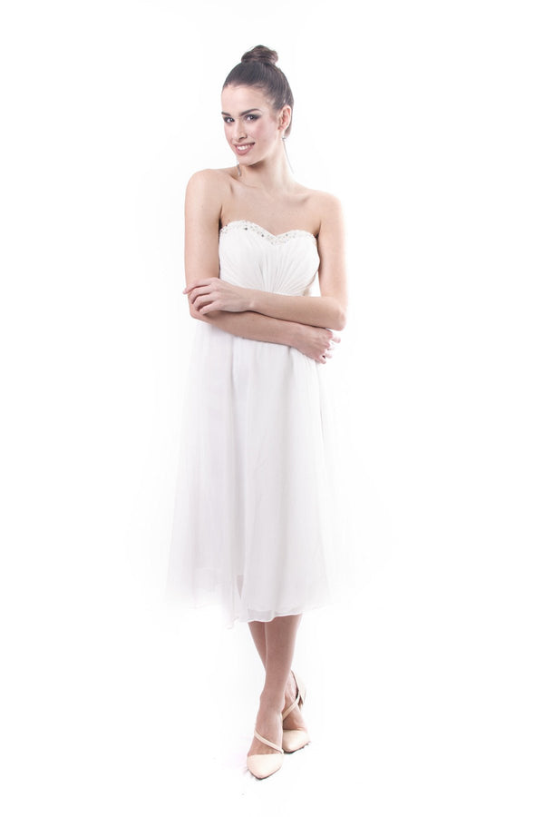 Pre-Order - Pleated Chiffon Tube Dress