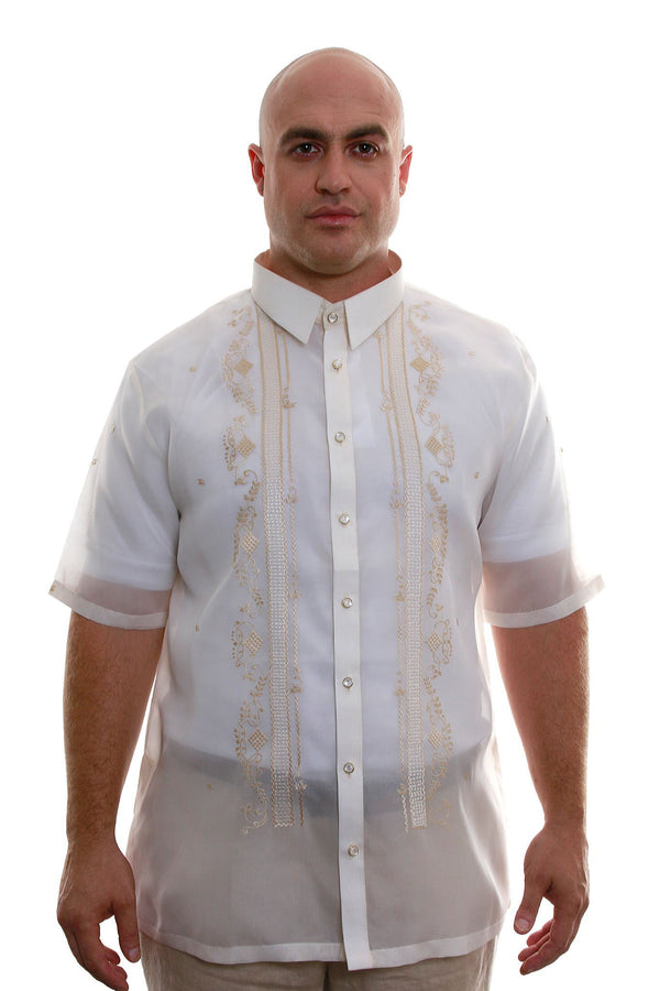 Big & Tall - Jusi Full-Open Short-Sleeve Barong Tagalog 002