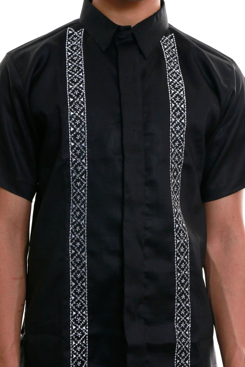 Gusot Mayaman Full-Open Black 003 Office Barong