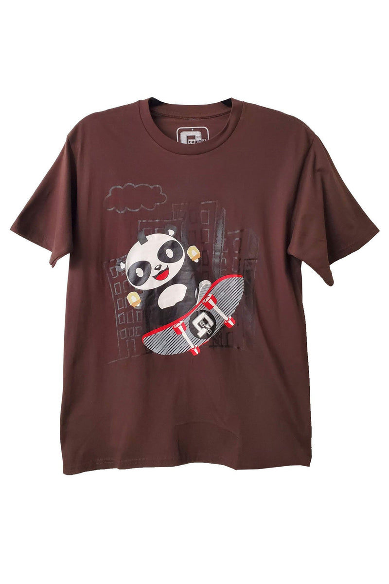 Capital G - Panda Skate Brown Tee T-Shirt